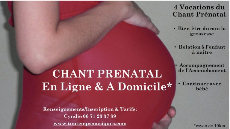 Chant Prénatal En Ligne & A Domicile
